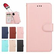 For Iphone 12 11 Pro Xs 8 Max Leather Wallet Magnetic Flip Back Cover Case