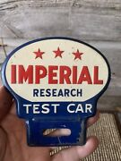 Vintage Imperial 3 Stars Sign Advertising License Plate Topper Esso Sign