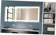 70 X 32 In Dimmable Led Bathroom Mirror With Anti-fog And Bluetooth Function Ve