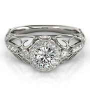 Real 0.90 Ct Round Diamond Engagement Womenand039s Rings 14k White Gold Size 8 7.5 9