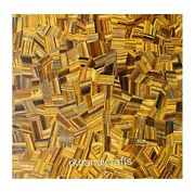 Tiger Eye Stone Random Art Restaurant Table Top Square Marble Dining Table Top
