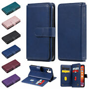 For Iphone 12 Pro Max Xs Max Xr 78 Se 2020 Ten Cards Slot Stand Leather Case