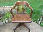 Antique Vintage Lawyers Bankers Office Chair Restored Marble Chair