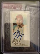 Mike Trout 2020 Allen And Ginter Mini Auto Framed Black /25 Los Angeles Angels