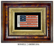 13 Star Antique Flag With A Hop Bitters Overprint | Circa 1872-1890