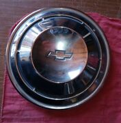 Original Chevrolet Hubcap Dog Dish Poverty Style 10.5 Stainless Nice Chrome