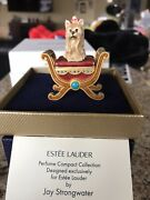 Estee Lauder White Linen Pampered Pup Solid Perfume Compact Nib Jay Strongwater