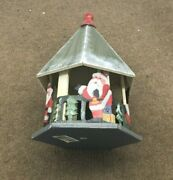 Wooden Christmas Santa Gazebo Height 13 1/4 Base 7 1/2