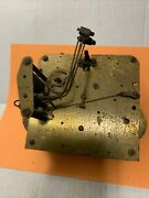 Vintage English Grandfather Clock Movement For Parts Or Repair 3 Barrel As Fo