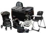 Unisex Baby Stroller Travel System With Car Seat Combo Playard Swing Chair Bag
