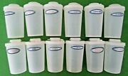 Vintage Lot Of 12 Tupperware Millionaires Line Clear Spice Containers -102