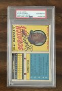 Hank Aaron Autographed Signed 1970 Topps Scratch Off Card Psa Authentic Pop 1