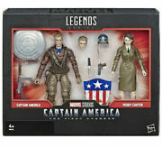 Captain America And Peggy Carter Marvel Legends 2 Pack 6 Inch Action Figures New