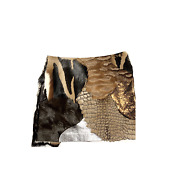 Tom Ford Mixed-fur Patchwork Mini Skirt Brown Size 38