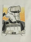 2020 Topps Star Wars Holocron Sketch Shore Trooper Card By John Bruce 1/1