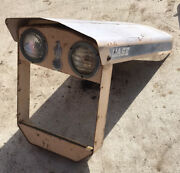 Rare Vintage Case Hydra-static Drive Tractor Hood -with Headlights Emblem