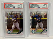 2 Lot Julio Rodriguez 2019 Bowman Prospects Base And Chrome Bcp-33 Mariners