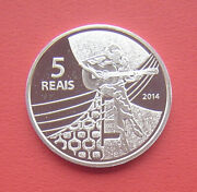 Brazil 2014 Olympic Games Rio 2016 - Beach Volleyball 5 Reais Silver Proof Coin