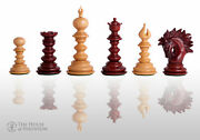 The Savano Luxury Chess Set - Pieces Only - 4.4 King - Blood Rosewood