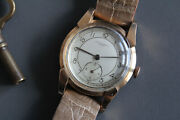 1940and039s Record Watch 18k Gold C. 106 Fancy Lugs 10 Shy Jumbo Magnifier Crystal