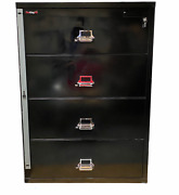 Fireking File Cabinet Lateral Legal 37-1/2 4 Drawer Fireproof Water And Impact