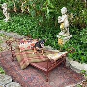 Antique Iron And Wicker French Style Childandrsquos/petandrsquos/doll Daybed/chaise Mid-century