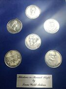 Vintage Milestones Manned Flight 6 Coin Set Trans World Airlines- Wright Earhart