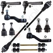 12pcs Front Suspension Kit Ball Joint Tie Rods For Chevy Silverado 1500 4wd Awd
