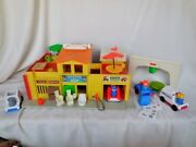 Collectible Vintage Fisher Price Village 28 Piece Set Usa Toys And Hobbies 1973