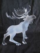 Statue Lucite Moose Free Standing 10 Long X 7 Wide X 12 Tall