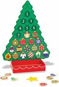 Melissa And Doug Wooden Advent Calendar - Magnetic Christmas Tree 25 Magnets