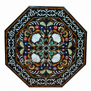 Marble Restaurant Table Top Gemstones Inlay Work Dining Table From Cottage Craft