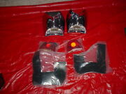 1957 Chevy Belair 210 150 Tail Light Chrome Bezel Assembly Pair Made In The Usa