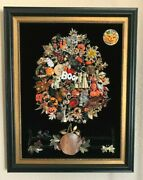 Framed Jewelry Art Tree Of Spooky Halloween Black Cats Ghosts Pumpkins Witches