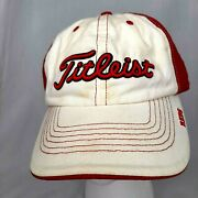 Titleist Cincinnati Reds Logo Hat/cap Red White Embroidered Forty Seven Brand