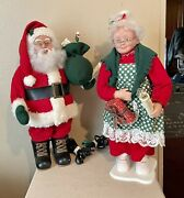Holiday Creations 1993 Mr And Mrs Santa Claus Lighted Animated Motion Figures 24