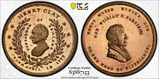 Mule Campaign Medal Hc 1844-11 Henry Clay 1844-10 Harrison Whh 1840-7 Pcgs Ms 64