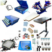 Full Set 4-1 Color Screen Printing Kit Manual Operate Set Easy To Use 1-006934