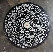 Round Shape Marble Inlay Table Top With Amazing Design Kitchen Table Home Decor