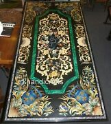 Dining Table Top With Pietra Dura Art Black Marble Office Table From Cottage Art