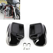 Pair Black Lower Vented Leg Fairing Water-cooled For Harley Tourings Model 14-up