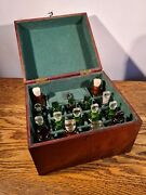 Collectible Victorian Domestic Homeopathy/medicine Box And Contents C.1885