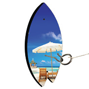 Beach Gazebo Surf Board Shaped Hook And Ring Toss Lawn Game