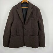 """Rfm Tall Mens Clothing Ny Brown Quilted Wool Jacket 5'11""""- 6'3"""" 602 Chest 40"""