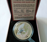 Tokelau 5 Dollars 2012 Enduring Love Bird Silver Box Coa