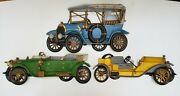 1970s Burwood Antique Cars Wall Hanging 3d Plastic Homco Collectible Lot Of 3