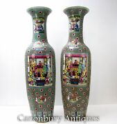 Large Ming Porcelain Urns - 5 Feet Tall Chinese Vases