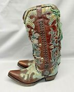 Old Gringo Womenand039s Double D Ranch Ammunition Cowgirl Boot Snip Toe Size 6.5
