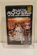 Mego Buck Rogers Tiger Man Action Figure On Unpunched Card In Afa Acrylic Case