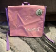 Leapfrog Leappad Carrying Case Backpack, Pink And Purple W/2 Cartridges
